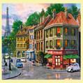 Paris Streets Location Themed Mega Wooden Jigsaw Puzzle 500 Pieces