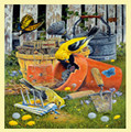 Spring Planting Bird Themed Maestro Wooden Jigsaw Puzzle 300 Pieces