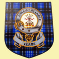 Clark Clan Tartan Clan Clark Badge Shield Decal Sticker Set of 3