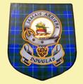 Douglas Clan Tartan Clan Douglas Badge Shield Decal Sticker Set of 3