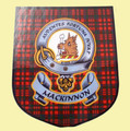 MacKinnon Clan Tartan Clan MacKinnon Badge Shield Decal Sticker