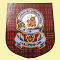 MacKinnon Clan Tartan Clan MacKinnon Badge Shield Decal Sticker Set of 3