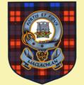 MacLachlan Clan Tartan Clan MacLachlan Badge Shield Decal Sticker Set of 3