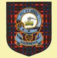 Matthews Clan Tartan Clan Matthews Badge Shield Decal Sticker Set of 3