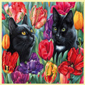 Amongst The Tulips Animal Themed Mega Wooden Jigsaw Puzzle 500 Pieces