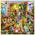 Coming To Life Animal Themed Mega Wooden Jigsaw Puzzle 500 Pieces