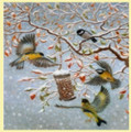 Breakfast In The Snow Bird Themed Maestro Wooden Jigsaw Puzzle 300 Pieces