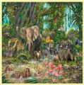 African Experience Animal Themed Mega Wooden Jigsaw Puzzle 500 Pieces