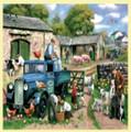 Spring Farm Animal Themed Mega Wooden Jigsaw Puzzle 500 Pieces