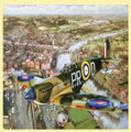Spitfire Over Henley Aviation Themed Maxi Wooden Jigsaw Puzzle 250 Pieces