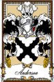 Anderson Bookplate Large Print Anderson Scottish Family Crest Print