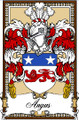 Angus Bookplate Large Print Angus Scottish Family Crest Print
