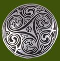 Celtic Triscele Kells Key Spiral Round Antiqued Stylish Pewter Brooch