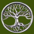 Tree Of Life Round Antiqued Stylish Pewter Brooch