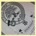 Anderson Clan Cloot Crest Unbleached Cotton Printed Tea Towel