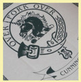 Cunningham Clan Cloot Crest Unbleached Cotton Printed Tea Towel