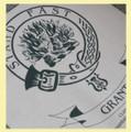 Grant Clan Cloot Crest Unbleached Cotton Printed Tea Towel