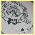 Hamilton Clan Cloot Crest Unbleached Cotton Printed Tea Towel