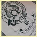 Johnston Clan Cloot Crest Unbleached Cotton Printed Tea Towel