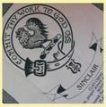 Sinclair Clan Cloot Crest Unbleached Cotton Printed Tea Towel