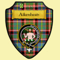 Aikenhead Tartan Crest Wooden Wall Plaque Shield