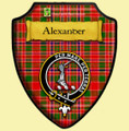 Alexander Tartan Crest Wooden Wall Plaque Shield