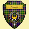 Arnott Tartan Crest Wooden Wall Plaque Shield