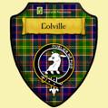 Colville Green Tartan Crest Wooden Wall Plaque Shield