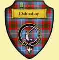 Dalmahoy Bright Tartan Crest Wooden Wall Plaque Shield