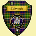 Dalrymple Ayrshire District Tartan Crest Wooden Wall Plaque Shield