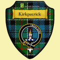 Kirkpatrick Ancient Tartan Crest Wooden Wall Plaque Shield