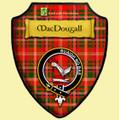 MacDougall Modern Tartan Crest Wooden Wall Plaque Shield