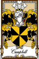 Campbell Bookplate Print Campbell Scottish Family Crest Print