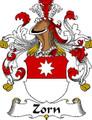 Zorn German Coat of Arms Print Zorn German Family Crest Print