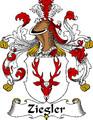 Ziegler German Coat of Arms Print Ziegler German Family Crest Print