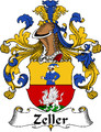 Zeller German Coat of Arms Large Print Zeller German Family Crest