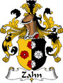 Zahn German Coat of Arms Print Zahn German Family Crest Print