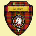 Hepburn Ancient Tartan Crest Wooden Wall Plaque Shields x 2 - Custom Listing