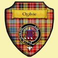 Ogilvie Ancient Tartan Crest Wooden Wall Plaque Shield