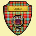 Ogilvie Modern Tartan Crest Wooden Wall Plaque Shield