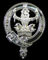 Wells Clan Badge Polished Sterling Silver Wells Clan Crest
