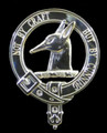 Todd Clan Badge Polished Sterling Silver Todd Clan Crest