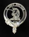 Melville Clan Badge Polished Sterling Silver Melville Clan Crest