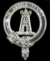 Malcolm Clan Badge Polished Sterling Silver Malcolm Clan Crest