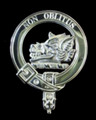 MacTavish Clan Badge Polished Sterling Silver MacTavish Clan Crest