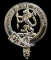 MacQueen Clan Badge Polished Sterling Silver MacQueen Clan Crest