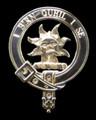 MacLeod Of Lewis Clan Badge Polished Sterling Silver MacLeod Of Lewis Clan Crest