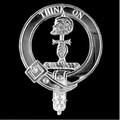 MacLellan Clan Badge Polished Sterling Silver MacLellan Clan Crest
