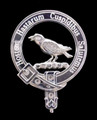 MacKie Clan Badge Polished Sterling Silver MacKie Clan Crest