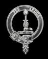 MacIntyre Clan Badge Polished Sterling Silver MacIntyre Clan Crest